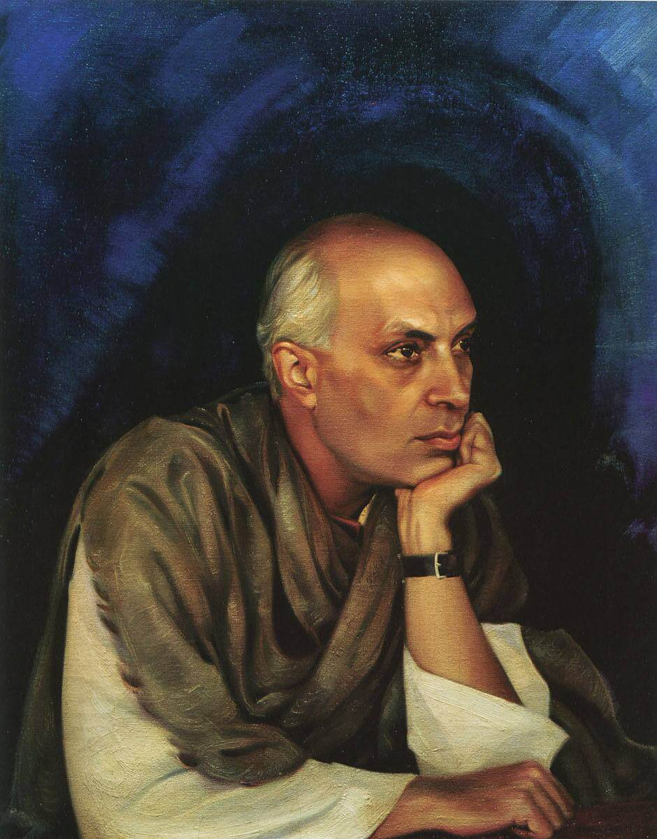 портрет Джавахарлал Неру Святослав Рерих